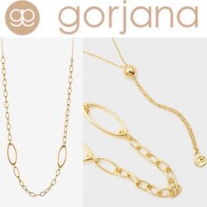 NWT Gorjana Gold Rowan Adjustble necklace